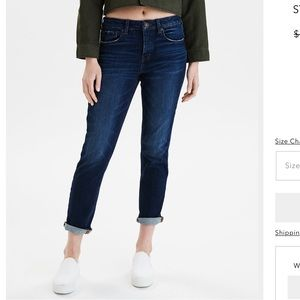American Eagle Tomgirl button fly jeans